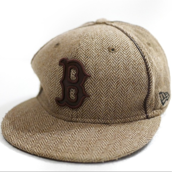 9f683fe28 Boston Red Sox New Era Tweed Flat Cap Baseball Hat